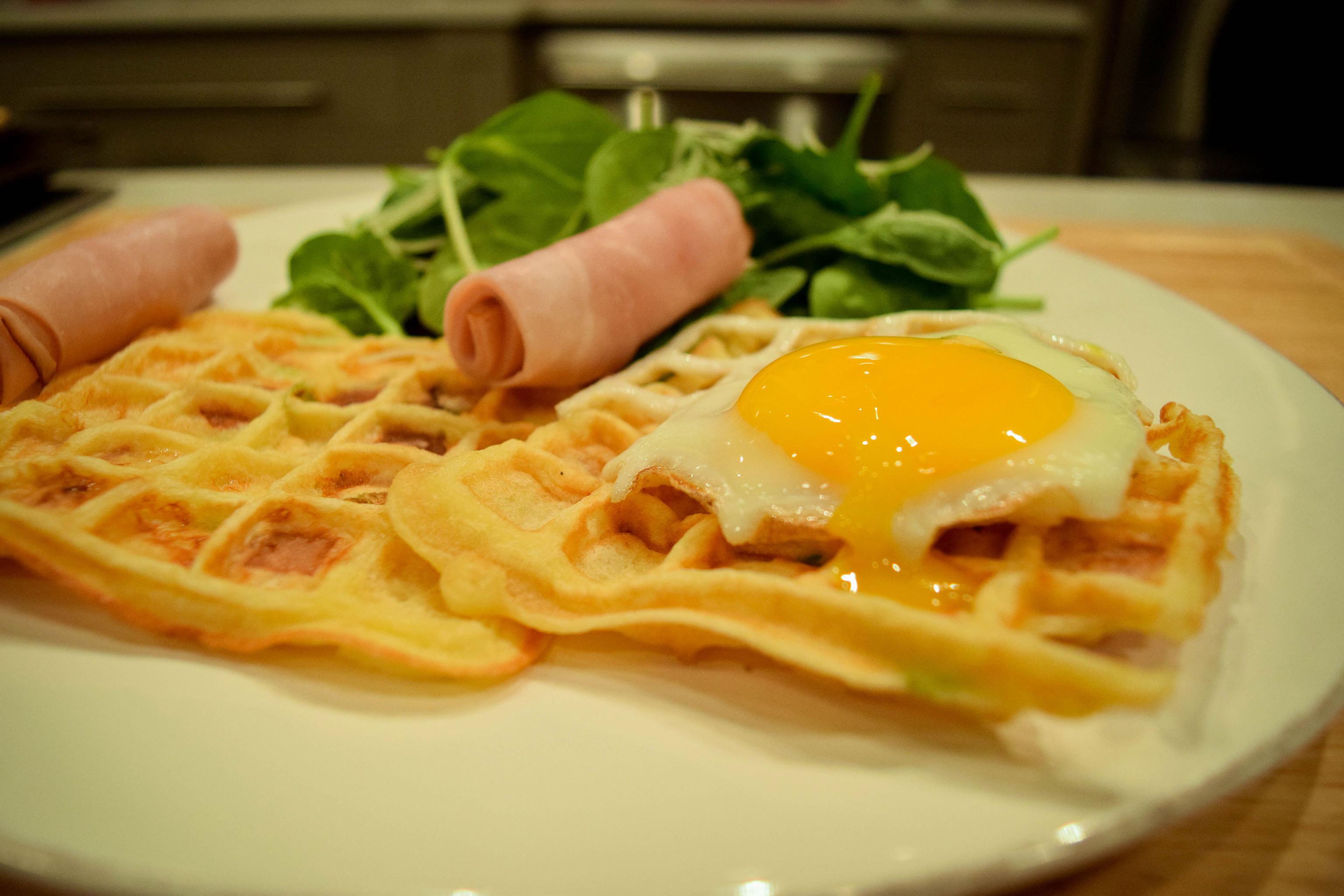 Ham and Cheese Waffles - Very Vera - Very Vera