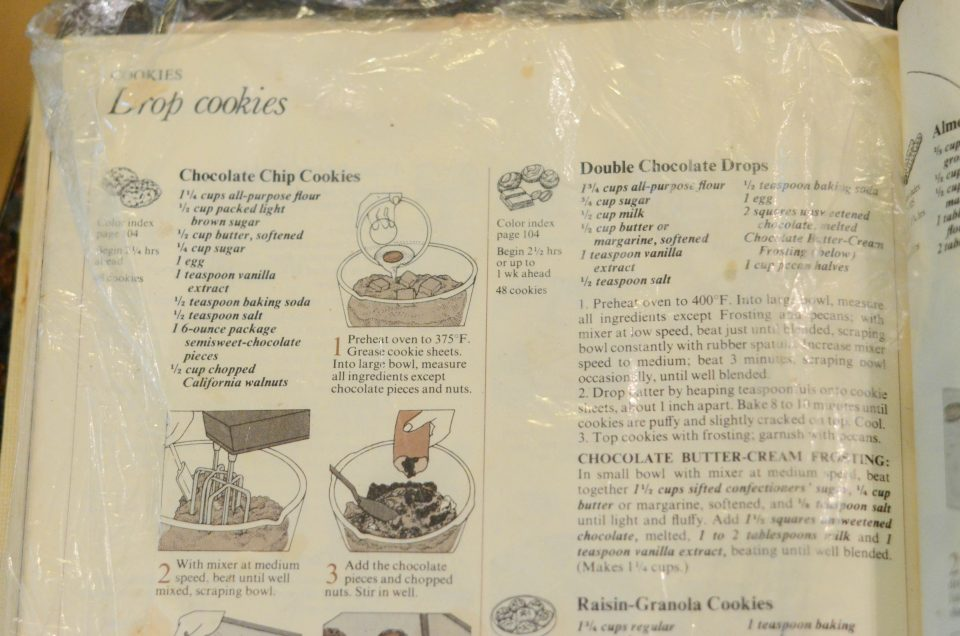 It's not hard to find this recipe, as there's always a protective sheet of Saran wrap over it